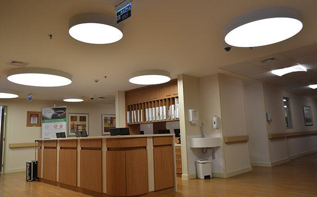 Hospital 9 de Julho São Paulo - Trabalho executado: Parede Drywall Acústica, Forro Drywall, Forro Modular Mineral 28